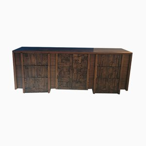 Brutalistisches Mid-Century Sideboard von Lane Furniture, 1960er