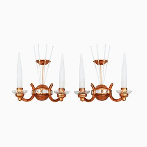 Art Deco French Sconces for Atelier Petitot, 1930s, Set of 2