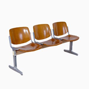 Mid-Century Axis 3000 3-Seater Bench by Giancarlo Piretti for Castelli