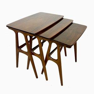 Danish Nesting Tables by Erling Torvits, 1960s
