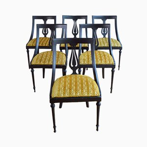Vintage Art Deco Dining Chairs, 1930s, Set of 6