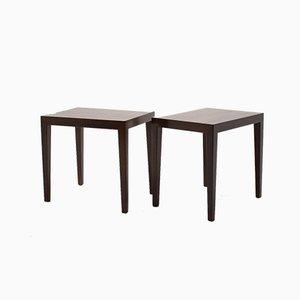 Tables d'Appoint en Palissandre de Haslev Møbelsnedkeri, 1960s, Set de 2