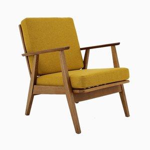 Dänischer Sessel mit Gestell aus Buche, 1960er