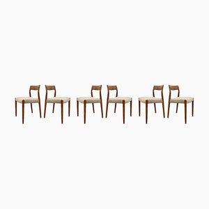 Chaises de Salle à Manger Modèle 77 par Niels Otto Møller pour J.L. Møllers, Danemark, 1960s, Set de 5