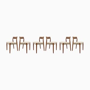 Danish Model 77 Dining Chairs by Niels Otto Møller for J.L. Møllers, 1960s, Set of 5