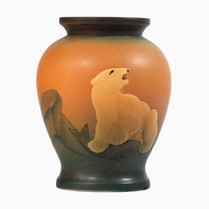 Antike dänische Keramikvase im Jugendstil von Ipsen, 1920er