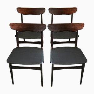 Esszimmerstühle aus Palisander von Schiønning & Elgaard für Randers Møbelfabrik, 1960er, 4er Set