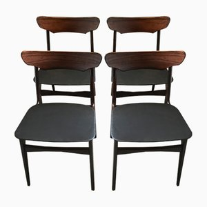 Sedie da pranzo in palissandro di Schiønning & Elgaard per Randers Møbelfabrik, anni '60, set di 4