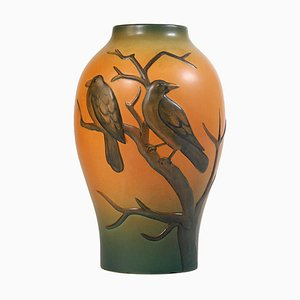 Antique Art Nouveau Danish Ceramic Vase from Ipsen, 1920s
