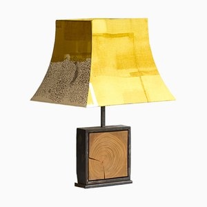 Natural Hashira Fleurs Sauvages Table Lamp from Villard