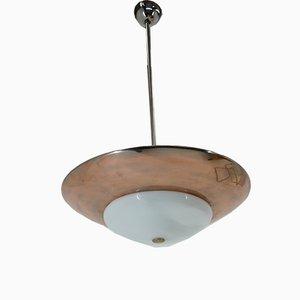 Lámpara de techo Bauhaus de cobre de Franta Anyz para Napako, años 30