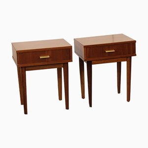 Mahogany Nightstands from Olaio, 1969, Set of 2