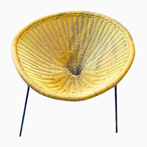 Rattan Side Chair by Robert Mango, 1950s