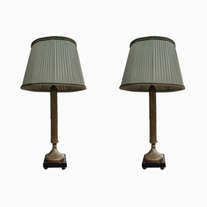 Lámparas de mesa antiguas. Juego de 2