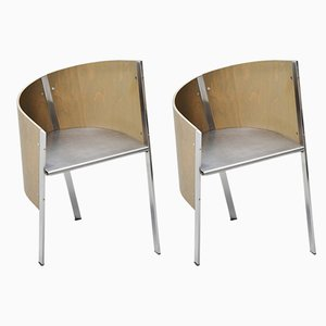 Italian Side Chairs by Paolo Pallucco for Gambe-Pallucco, 1980s, Set of 2