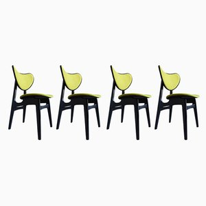 Mid-Century Butterfly Dining Chairs from GPLAN, 1960s, Set of 4