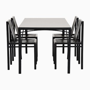 Dining Table & Chairs Set by Ruud Jan Kokke for Metaform, 1984, Set of 5