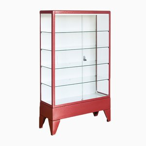 Spanish Lacquered Iron and Glass Medical Cabinet, 1970s