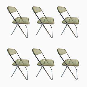 Esszimmerstühle von Giancarlo Piretti für Castelli / Anonima Castelli, 1970er, 6er Set