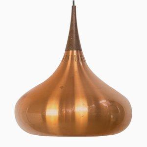 Lampada grande in palissandro di Johannes Hammerborg per Fog & Mørup, anni '60