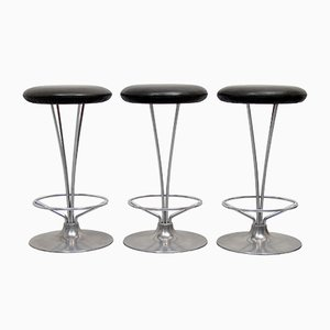 Danish Bar Stools by Piet Hein for Fritz Hansen, 1970s, Set of 3