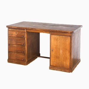 Dutch Oak Desk, 1930s