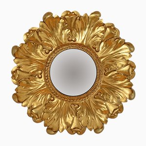 Large Giltwood Wall Mirror, 1940s