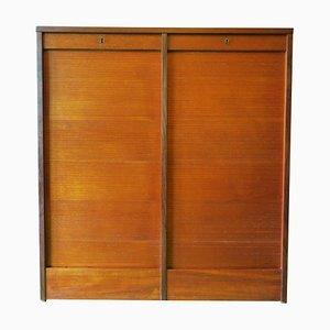 Teak Tambour Filing Cabinet, 1960s