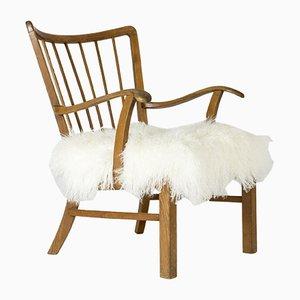 Sessel mit Gestell aus Eiche von Ludvig Pontoppidan, 1940er