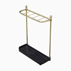 Antique Victorian Brass Umbrella Stand