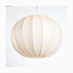 French Parchment and Latex Ceiling Lamp, 1970s