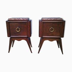 Vintage Nightstands, 1940s, Set of 2