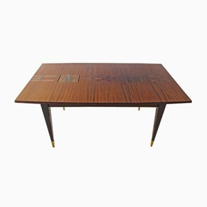 Mahogany Veneer Dining Table, 1970s
