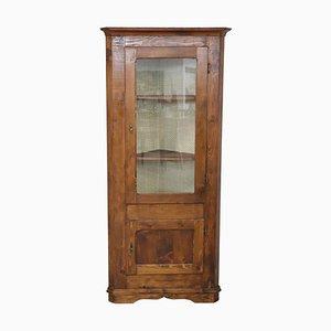 Mueble esquinero vintage de madera de pino, años 50