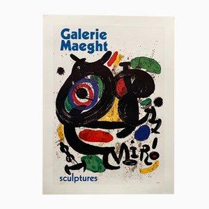 Affiche d'Exposition Miró, 1970s