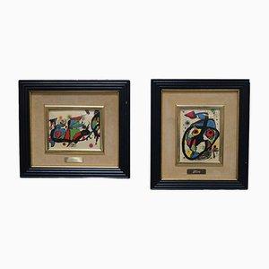Láminas vintage de Joan Miró, años 70. Juego de 2