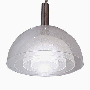 Lámpara de techo de cristal de Murano de Carlo Nason para Mazzega, años 60