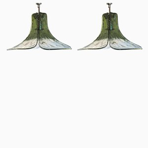 Murano Glass Ceiling Lamps by Carlo Nason for Mazzega, 1970s, Set of 2