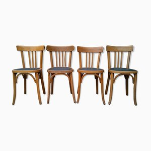 Vintage Bistro Chairs, Set of 4