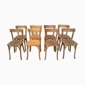 Vintage Bistro Chairs, Set of 8