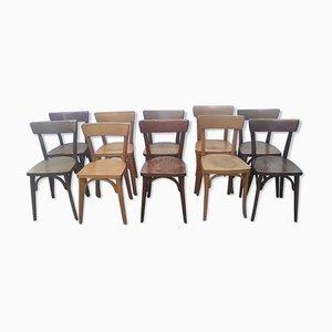 Chaises de Bistrot Vintage, Set de 10