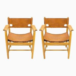 Modell 3238 Esszimmerstühle von Børge Mogensen für Fredericia, 1960er, 2er Set