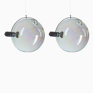 Deckenlampen aus Muranoglas von Carlo Nason für Lumenform, 1970er, 2er Set