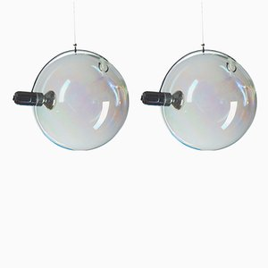 Murano Glass Ceiling Lamps by Carlo Nason for Lumenform, 1970s, Set of 2