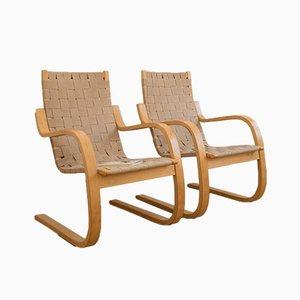 Sedie modello 406 in betulla di Alvar Aalto per Artek