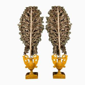 Vases Vénitiens Antiques en Verre, Set de 2