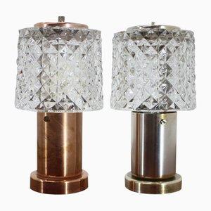Kleine Tischlampen von Kamenický Šenov, 1970er, 2er Set
