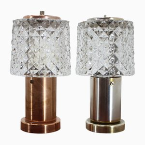 Small Table Lamps from Kamenický Šenov, 1970s, Set of 2