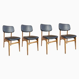 Beech Side Chair, 1960s, Set of 4