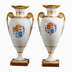 Antique Porcelain Vases from Meissen, Set of 2